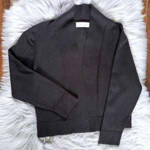 Calvin Klein || Black Ribbed Knit Shrug